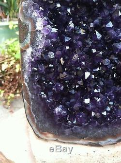 Uruguayan Amethyst Geode Cluster Quartz Crystal