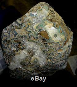 Uruguayan Amethyst/ Quartz Crystal Cluster Geode Uruguay Blue/green Agate