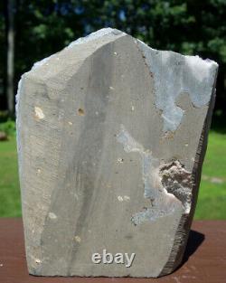 Uruguayan Uruguay Amethyst Crystal Cluster w White Calcite & Cut Base