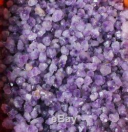WHOLESALE PRICE! 22lb Tibetan Skeletal Purple Amethyst Quartz Cluster Decor