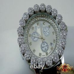 White Gold Finish Real Diamond Ice House Joe Rodeo Cluster Bezel Icy Men Watch