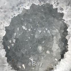 10.38lb Agate Naturelle Géode Quartz Cluster Cristal Spécimens Guérison Uk2843