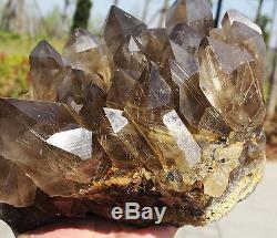10.53lb Nouvelle Recherche Natural Clear Golden Rutilated Quartz Crystal Cluster Specimen