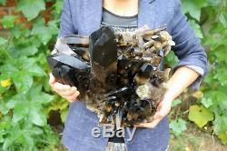 10100g (22.2lb) Spécimen Tibétain De Beau Cristal Noir De Quartz Naturel