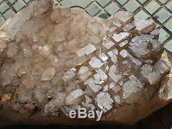 107.03lb Aaa +++ Naturel Elestial De Cristal Quartz Cluster Spécimen