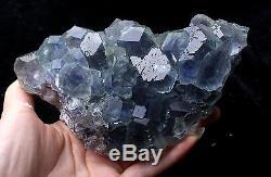 1079,8g Natural Green. Blue Fluorite Quartz Crystal Cluster Mineral Specimen