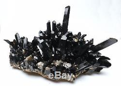 10880g Naturel Rare Belle Noir Spécimen De Minerai De Grappes De Cristal Quartz 315