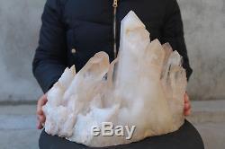 10900g (24lb) Spécimen Tibétain Naturel Beau Clair De Cluster De Cristal De Quartz
