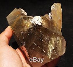 1090g Nouveau Trouver Naturel Clair Or Rutilé Quartz Spécimen De Grappe De Cristal