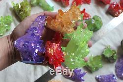 10lb 35 Pièces Quartz Cristal Arc-en-quartz Points De Titane Cristal De Revêtement