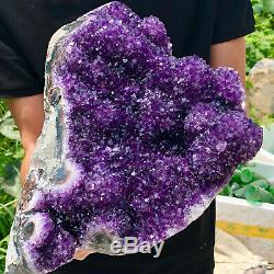 11.3lb Naturel Amethyst Spécimen De Polissage Cristal De Quartz Groupe De Guérison