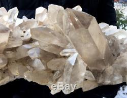 11.7lb Grand Naturel Clair Cristal De Roche Quartz Cluster Point Spécimen Reiki Guérir