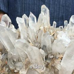 11.7lb Groupe De Quartz Clair Naturel Spécimen De Cristal Minéral Cicatrisant Atd139-fa
