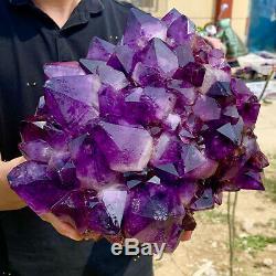 11.94lb Naturel Amethyst De Cristal De Quartz Groupe Géode De Guérison