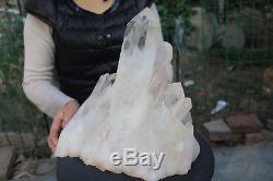 11000g (24.2lb) Spécimen Tibétain Naturel Beau Clair De Cluster De Cristal De Quartz