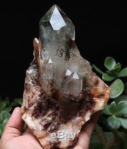 1140g Spéculum Fantôme Vert Naturel Fantôme Quartz Spécimen De Cluster Cristal