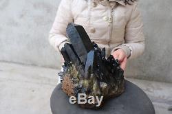 11500g (25.3lb) Spécimen Tibétain De Beau Cristal Noir De Quartz Naturel