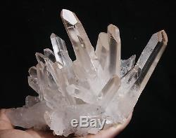 1150g Aaa Clair Naturel Beau Blanc Quartz Crystal Cluster Specimen