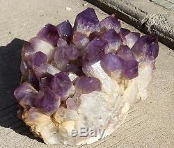 118.3ib Aaa +++ Rare Belle Amethyst Quartz Cristal Cluster Spécimen