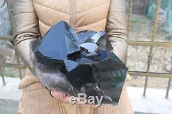 12000g (26.4lb) Spécimen Tibétain De Beau Cristal Noir De Quartz Naturel