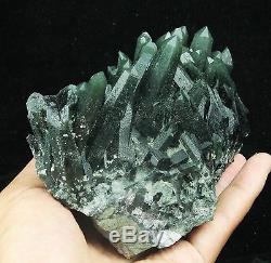 1205g Nouveau Rare Spécimen De Cristal Quartz Vert Squelette Naturel Quartz Squelettique