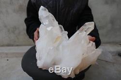 12350g (27.2lb) Spécimen Tibétain Naturel Beau Clair De Quartz De Groupe De Cristal