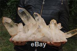 12895g Top Clear Naturel Tibétain Quartz Crystal Cluster Point Spécimen