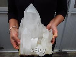 13.96lb Naturel Clair Quartz Crystal Cluster Points Spécimens