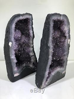 13 Paire Cathédrale Améthyste Cristal Quartz Cluster Pierres Naturelles Spécimen Brazi