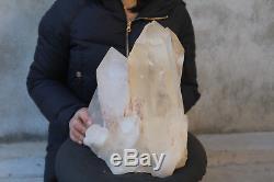 13100g (28.8lb) Spécimen Tibétain Naturel Beau Clair De Cluster De Cristal De Quartz