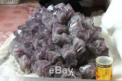 134,4lb Granit Naturel De Quartz À L'améthyste Cluster Points Rock Specimen Brazil