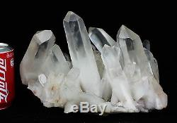 14.8lb Aaa +++ Clair Blanc Naturel Quartz Crystal Cluster Specimen