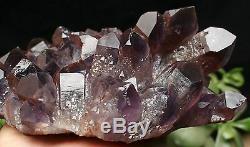 1450g Violet Elestial Naturel Cristal Amethyst Point Cluster Spécimen