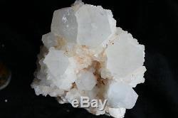 15.8lb Points Grands De Cluster De Cristal De Quartz De Squelette Rare Avec Des Points De Bébé Autour