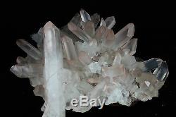 16.8lb Aaa +++ Clear Natural White Quartz Crystal Cluster Specimen