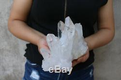 1600g Naturel Beau Clair De Cristal De Quartz Grappe Tibétaine Échantillons De Guérison
