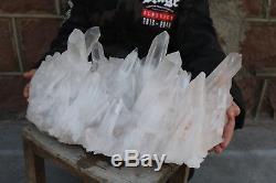 16800g Belle Naturel Clear Quartz Cristal Cluster Spécimen Guérison H994