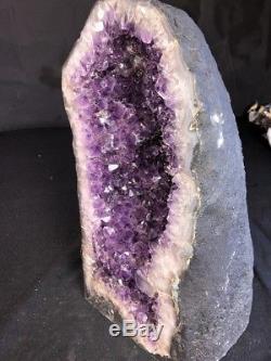 17 60 Lbs Améthyste Géode Quartz Cristal Cluster Cathédrale Décor Spécimen Brésil