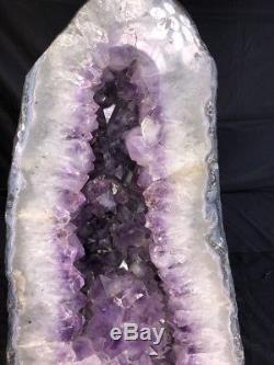 17 68,2 Lbs Améthyste Géode Quartz Cristal Cluster Cathédrale Spécimen Brésil