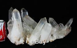 17.75lb Aaa +++ Blanc Naturel Clair Quartz Spécimen De Groupe De Cristal