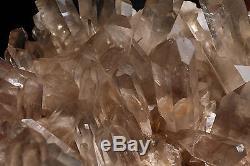 17,8 Lb Clair Naturel Joli Quartz Cristal Point Cluster Spécimen & Brésil A3