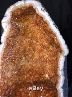 17 Qual. Cathédrale Aaa Citrine Géode Quartz Cristal Cluster Améthyste