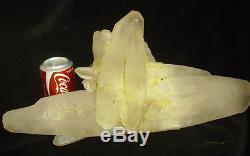 17lb Natural Clear White Quartz Cristal Cluster Double Points Original Tibétain