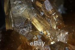 18.53lb Rare Naturel Clair Or Rutilé Quartz Cristal Cluster Spécimen