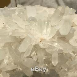 1947g Grand Quartz Vert Lumière Naturelle Cristal Cluster Rugueux Des Échantillons De Guérison