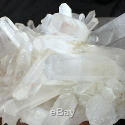 2.3lb Grand Naturel Blanc Clair Quartz Cluster Rugueux De Guérison Des Échantillons