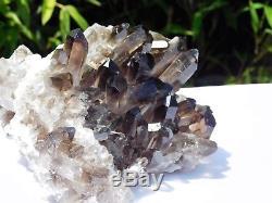 2 Gros Minerai Brésil De 1,12 KG À Grappes De Cristaux De Quartz Fumés De Haute Qualité