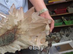 20000g Naturel Tibetain Clear Quartz Cluster Cristal Forme Exceptionnelle Spécimen