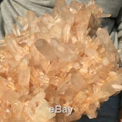 2005g Grand Clair Naturel Rose Quartz Cluster Rugueux De Guérison Des Échantillons