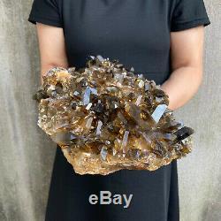 20lbs Énorme Naturel Quartz Fumé Cluster Cristal Baguette De Guérison Des Échantillons Point
